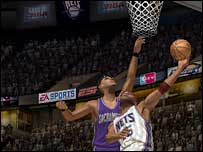 Screenshot from NBA Live 06, EA