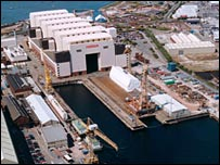 BAE Submarine Systems dockyard at Barrow-in-Furness