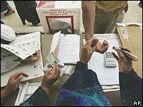 Centro de votación en Chiapas.