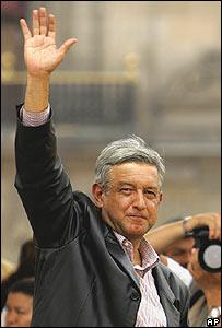 El candidato de izquierda Andrés Manuel López Obrador.
