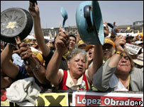 Manifestaciones a favor de Andrés Manuel López Obrador.