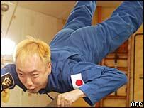 Space tourist, Daisuke Enomoto in training