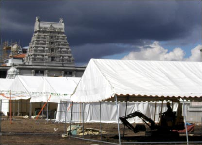Temple and marquees
