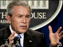 President Bush at a news conference 21 Aug, 2006