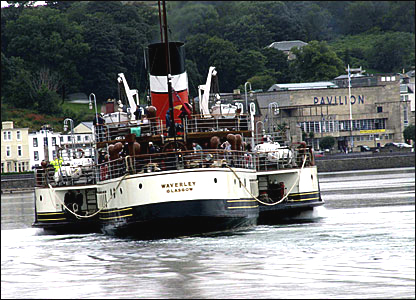 Waverley paddle steamer, Rothesay Bay