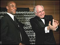 George Gregan and Australian prime minister John Howard