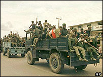 Nigerian police and army patrol (File picture)