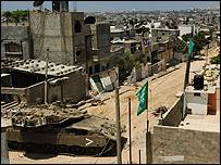 Israeli tank in Beit Hanoun in Gaza - 17 July 2006