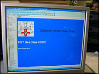 The news web pages created by pupils from Charters school in Berkshire