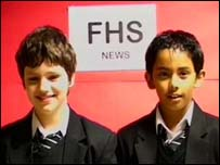 Students from Forest Hill school in London present their news programme