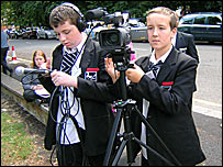 Ashley (left) and Charlie make the news