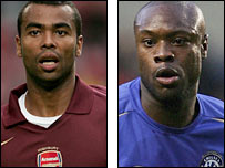 Ashley Cole (l) and William Gallas