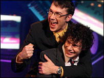 Mark Lamarr and Simon Amstell on Never Mind the Buzzcocks