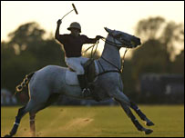 Player at Fifield Polo Club