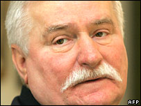 Lech Walesa (from AFP & BBC)