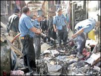 На месте взрыва на Черкизовском рынке