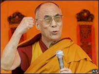 The Dalai Lama making a speech