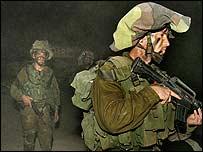Israeli soldiers along the Israel-Lebanon border