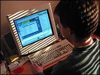 Generic picture of person using a computer
