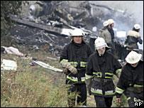 Место катастрофы Ту-154