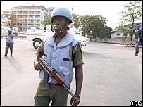 Ghanaian UN peacekeeper in Kinshasa