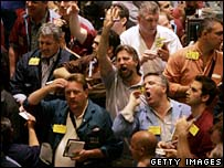 Traders on the New York Mercantile Exchange