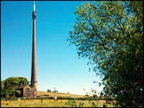 Emley Moor tower (photo: Arqiva)