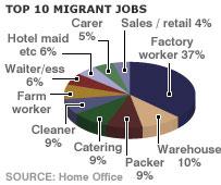 Top 10 migrant jobs graph