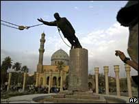 Toppling Saddam's statue in Baghdad