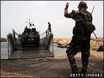 French troops arriving in Lebanon