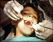 Boy at dentist