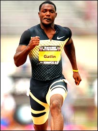 Justin Gatlin in action at the USA championships in June