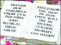 Helenor's grave in Porthcawl, Wales