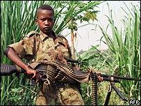 Ni�o soldado en la R.D. del Congo