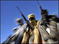 Miembros del rebelde ejército de liberación de Sudán