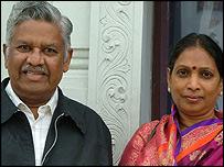 Dr Nookaraju and his wife Jayakumar