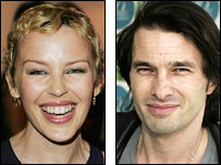 Kylie Minogue and Olivier Martinez