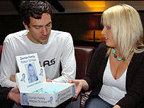 Gary Lightbody of Snowpatrol with Lisa Dorrian's sister, Joanne