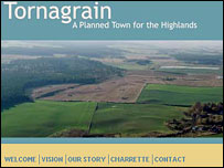 Tornagrain new town website