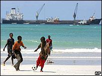 Beach at El Maan, north of Mogadishu