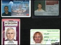 بطاقات هوية تابعة للصحفيين