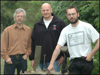 Ian Izett, Dr Andy Shaw and Richard Shipman (picture: Aberystwyth University)