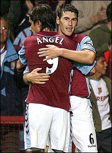 Angel congratulates Gareth Barry