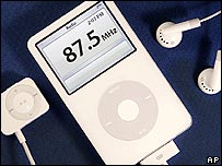 iPod with FM radio remote