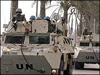 French soldiers of the United Nations Interim Force in Lebanon