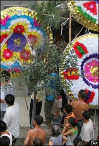 Coronas funerarias en China