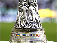 The Uefa Cup trophy