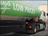 Asda fuel lorry