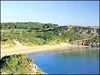 Barafundle Bay in Pembrokeshire (Photo copyright Pembrokeshire County Council)