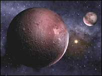 Artist's impression of Pluto and Charon (BBC)